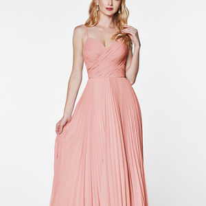 A-line Gown with Pleated Skirt CD7471